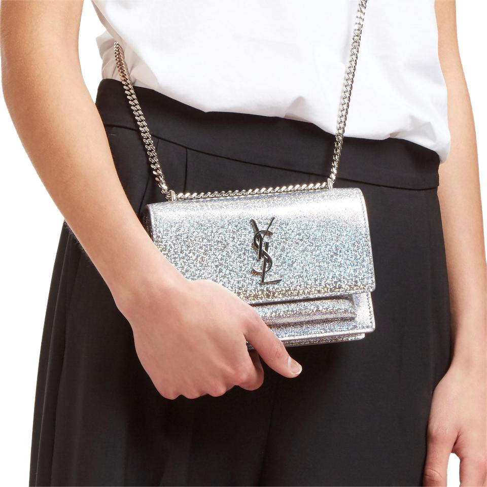 Saint Lau Kate Chain Ysl Monogram Mini Cross Body Bag