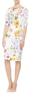 Lela Rose short dress White Tory Burch Dvf Victoria Beckham Tibi Black Halo on Tradesy