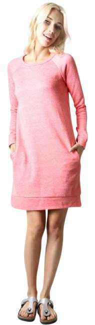 Item - Heather Rose Sweatshirt Tunic Or Front Pockets Comfy Short Casual Dress Size 4 (S)