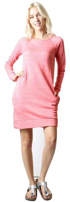 Item - Heather Rose Sweatshirt Tunic Or Front Pockets Comfy Short Casual Dress Size 8 (M)