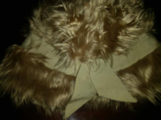 Other Vintage Faux Fur Top Hat with Ribbon Bow