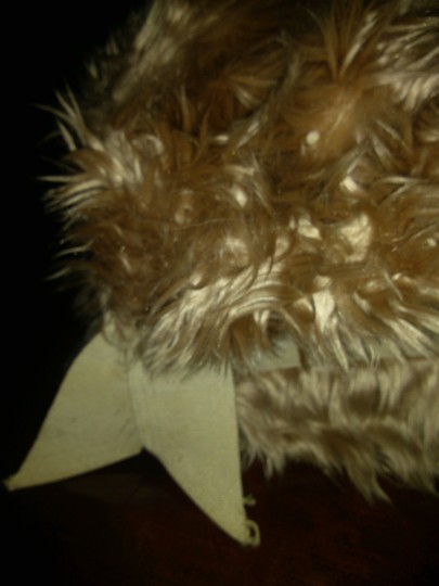 Other Vintage Faux Fur Top Hat with Ribbon Bow Image 3