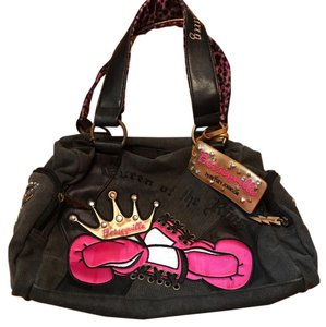 Betseyville by Betsey Johnson Satchel in Black and Pink
