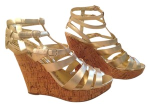 BCBG Paris Gold Wedges