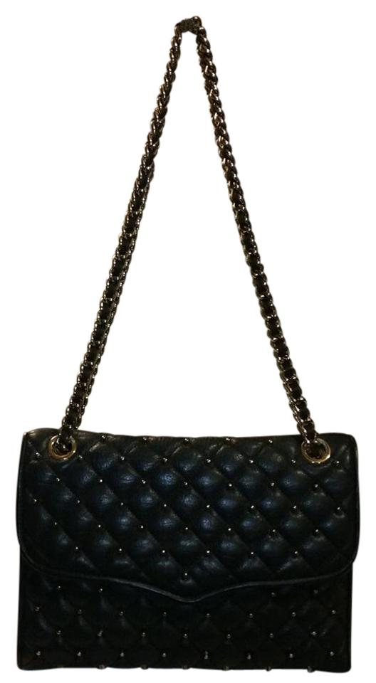 Rebecca Minkoff Quilted Affair Navy Blue Leather Shoulder Bag Tradesy