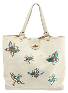 Lulu Guinness Tote in Beige
