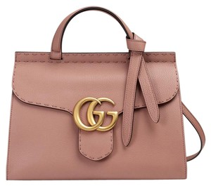 7ff3bb78922 Gucci Tote in Antique Rose. Gucci Marmont Gg Top Handle Mini Antique Rose  Leather Tote