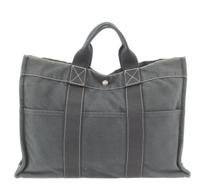 Hermès Travel Shoulder Tote in Black