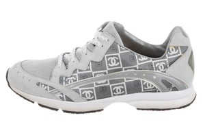 Chanel Interlocking Cc Embellished Metallic Hardware Hardware Metallic Silver, Black, White Athletic