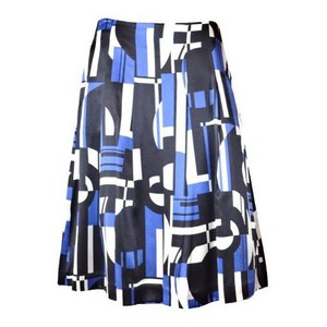 Ralph Lauren Pleated New With Tag Skirt Black/Navy Multi