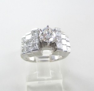 18kt White Gold Wedding Band 19 Diamonds 2.73 Carat Sz 5.5 Ring Fine Jewelry