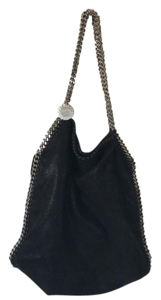 124e1316b598 Stella McCartney Falabella Shaggy Deer Small Tote Black Polyester Hobo Bag