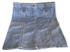 Louis Vuitton Stunning Rare Limited Edition Skirt Blue Denim