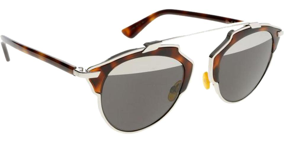 Dior Tortoise Shell and Silver Soreal Color Code Aoomd Lens-temple Color  Sunglasses 50% off retail