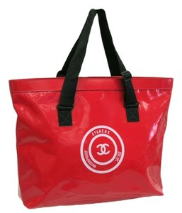 Chanel Pvc Waterproof Tote in Red