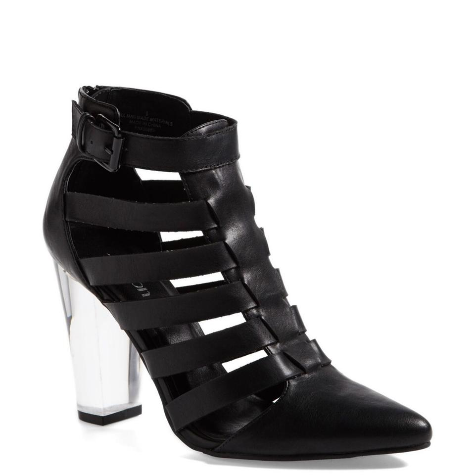 LADY Tildon Black affordable Caged Boots/Booties At an affordable Black price bc0665
