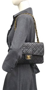 Chanel Classic Double Flaps Medium Lamb Skin Stock016240 Shoulder Bag