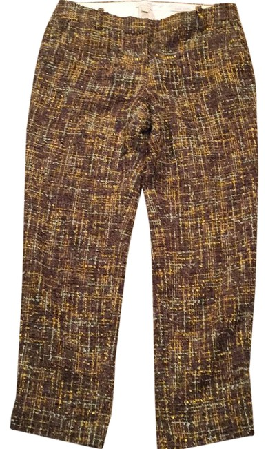 J.Crew Light Gold Light Blue Light Mustard Brown 097865 Pants Size 2 (XS, 26) J.Crew Light Gold Light Blue Light Mustard Brown 097865 Pants Size 2 (XS, 26) Image 1