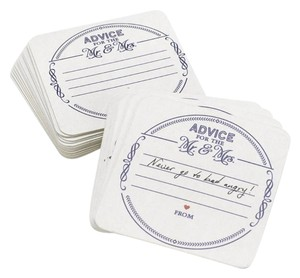 The Mr. and Mrs. Coasters Wedding Guest Book Alternatives 25 Count