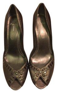 Linea Paolo Jeweled Night Out Date Night Party Pewter Pumps