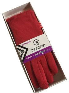 Isotoner Isotoner Red SmartTouch Gloves