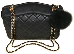 Chanel Quilted Lambskin Jumbo Shoulder Bag