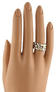 Chopard Happy Diamond 18k Gold SSteel Panther Link Flex Band Ring