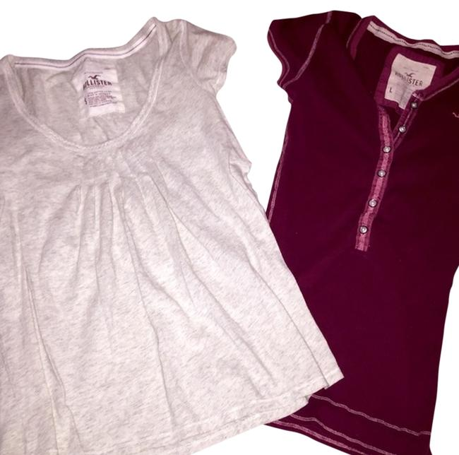 Hollister T Shirt Beige and Red