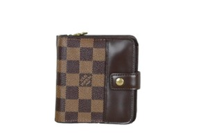 LOUIS VUITTON Auth LOUIS VUITTON Toile Damier Compact Zippe Wallet N61668