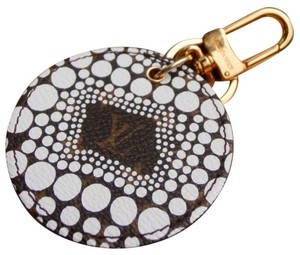 Louis Vuitton Limited Edition White Kusama Keychain / Bag Charm in Original Box