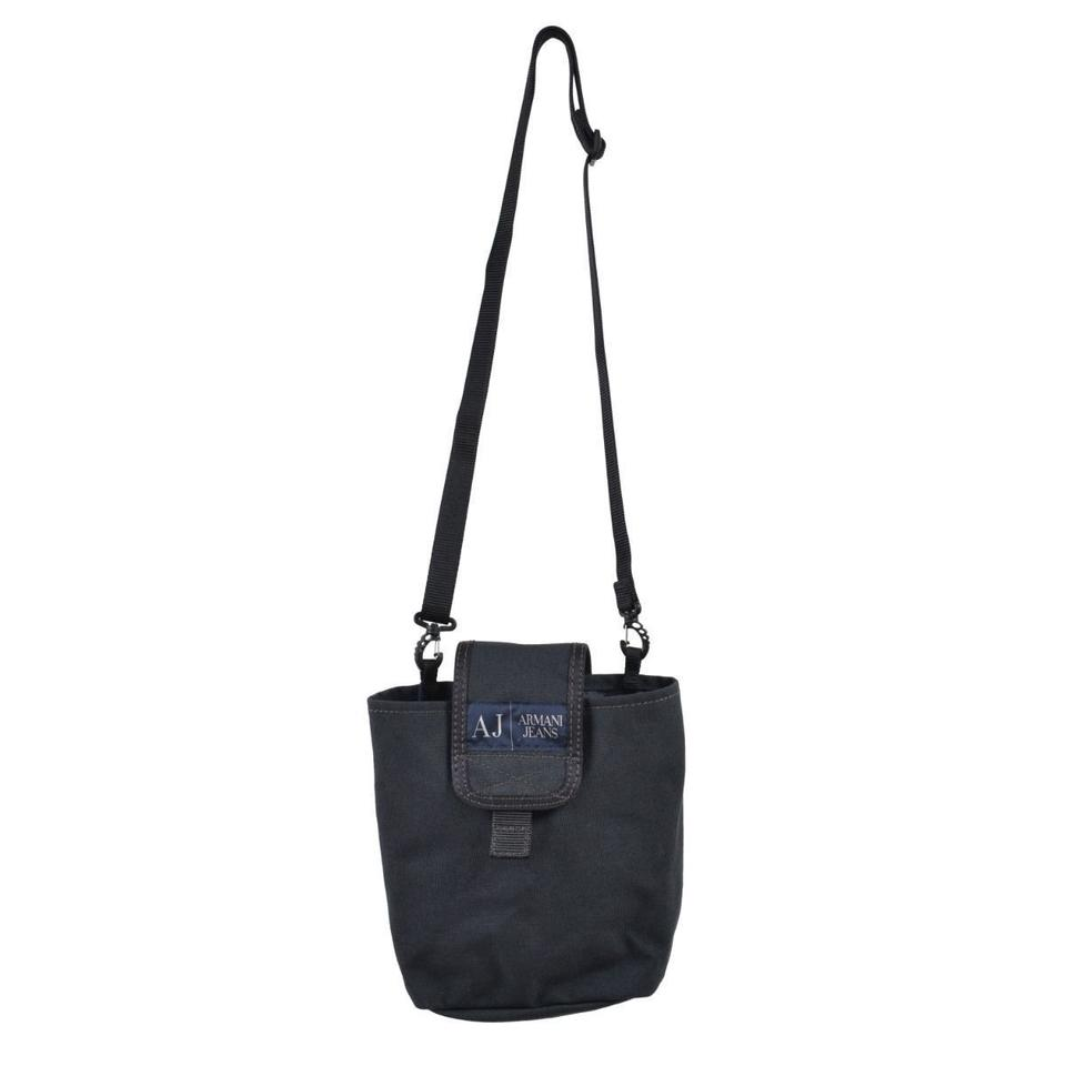 7629bf53a Armani Jeans Unisex Gray Nylon Cross Body Bag - Tradesy