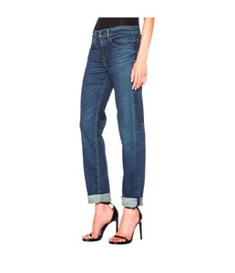 Helmut Lang Tapered 28 Boyfriend Relaxed Fit Jeans-Medium Wash
