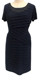 Adrianna Papell Pleat Embellished Dress