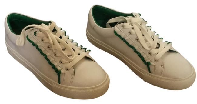 Item - White with Green Ruffle Sport Sneakers Size US 8 Regular (M, B)
