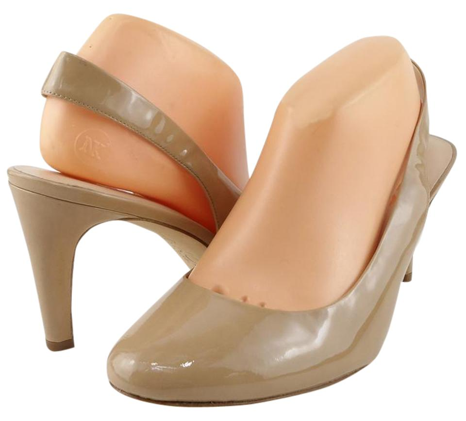 Nude Morley Patent Patent Patent Leather Slingbacks Pumps 9dce4e