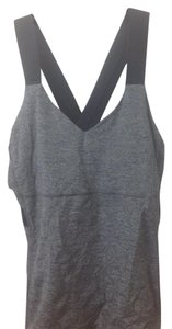 Lululemon Gray and black color block criss-cross tank