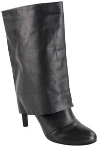 See by Chlo Foldover Leather Heels black Boots