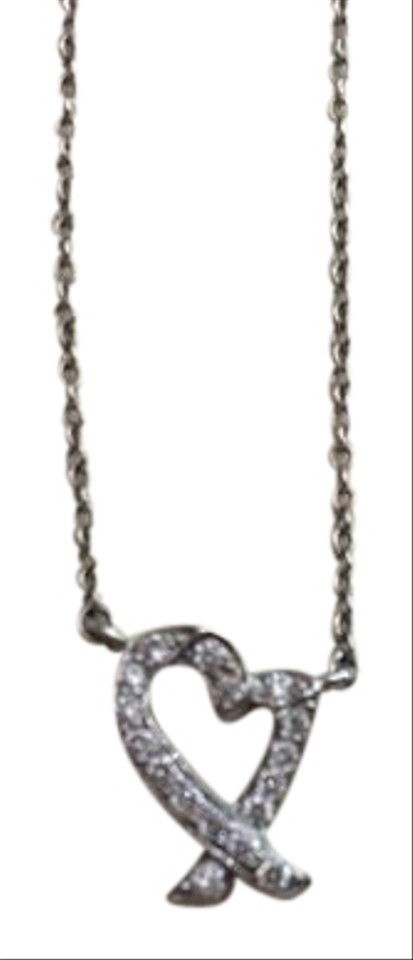 a9768b1a6 Tiffany & Co. Platinum And Diamond Paloma Picasso Loving Heart Necklace