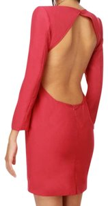 Blaque Label Glamorous Backless Berry Color Dress