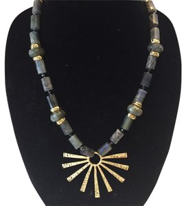 NEST NEST NWT LONG LABRADORITE SUN-RAY PENDANT NECKLACE ($395)