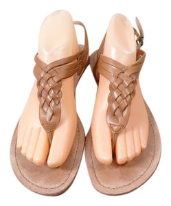 Ballasox by Corso Como Braided Leather brown Sandals