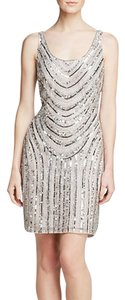 Adrianna Papell Beaded Sequin Mesh Dress