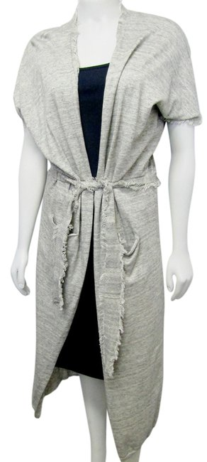 Item - Gray Est 2002 Small Knit Belted Cardigan Size 4 (S)
