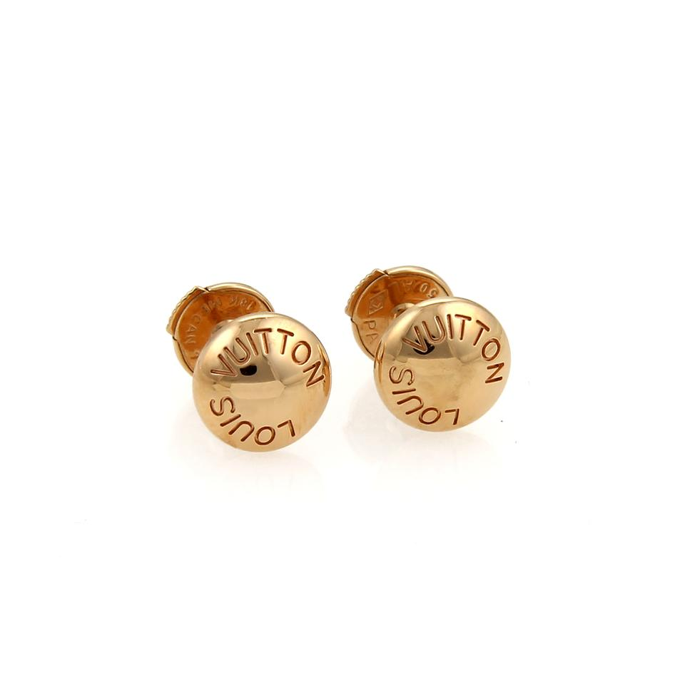 Louis Vuitton 20210 Emprise Clous 18k Rose Gold Stud Earrings