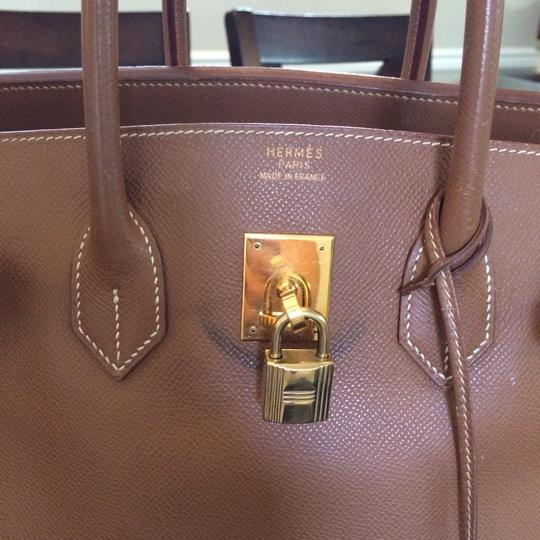 Hermès Vintage Birkin 35 Tote in Gold/Brown