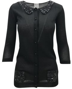 RED Valentino Sequin Embellished Classic Chic Casual Cardigan