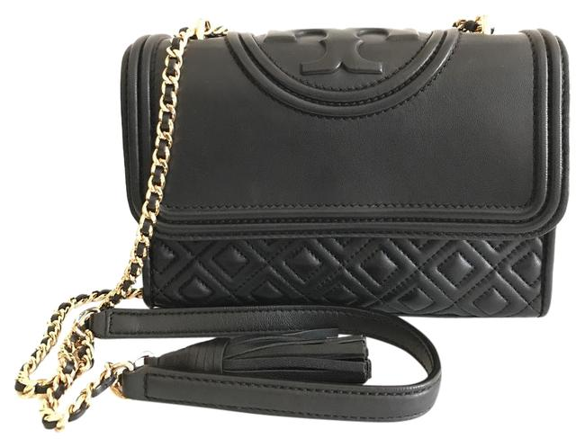 Item - Fleming Small Quilted Black Lambskin Leather Shoulder Bag