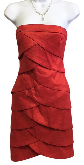 Item - Vibrant Red Evening Short Night Out Dress Size 8 (M)