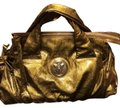 Gucci Gold Patent Leather Satchel Gucci Gold Patent Leather Satchel Image 1