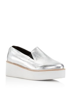Sol Sana Wedge Loafers Silver Platforms